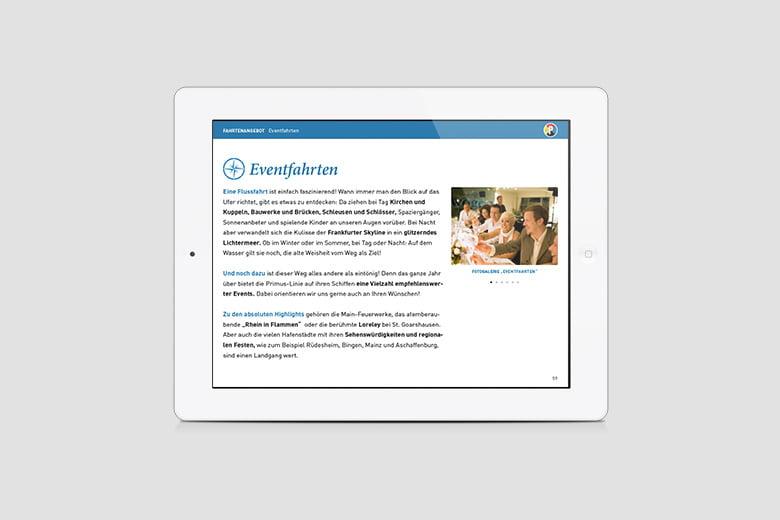 Primus Linie iPad Präsentatino