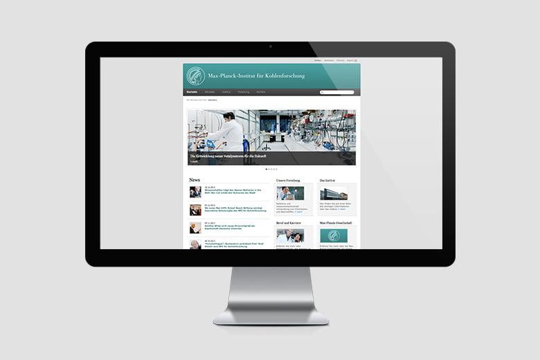 Internetauftritt Max Planck Institut für Kohlenforschung
