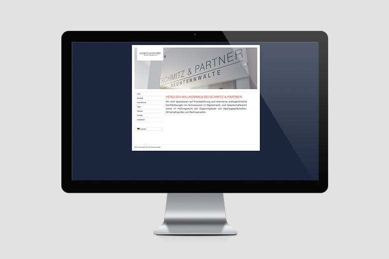 Internetauftritt Schmitz & Partner