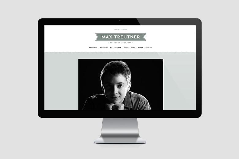 Internetauftritt Max Treutner