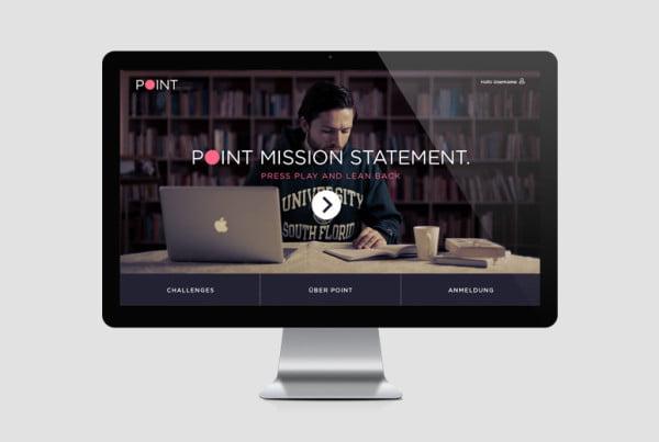 Layout Webseite Point