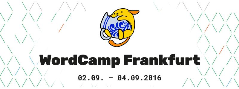 WordCamp Frankfurt 2016 angekündigt